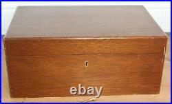 Fine Quality Alfred Dunhill London Walnut Cigar Humidor Box with Key Cedar Lined