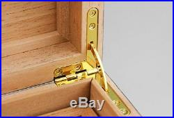 Fine Spanish Cedar Wood Cigar Box Humidors With Humidifier hygrometer GLS602