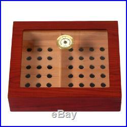 GALINER Cigar Humidor Box Cedar Wood Luxury Case With Humidifier Hygrometer