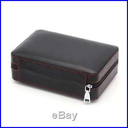 GALINER Leather Travel Cigar Humidor Case, Portable Cigar Box with Humidifier