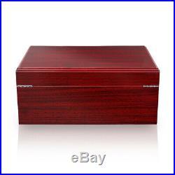 GALINER Red Cedar Wood Humidor Cigar Box Case With humidifier Hygrometer