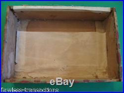 GRANDAVANA Vintage Antique Empty Hand Made Wooden Humidor Trimmed Cigar Box