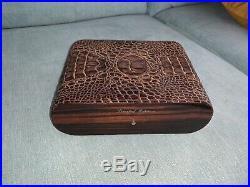 Gentili Cigar Humidor, Crocodile Skin, item as shown (eg no transit box/paper)