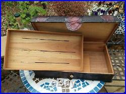 Genuine Cuban Alligator Skin Cedarwood Antique Cigar Humidor Box
