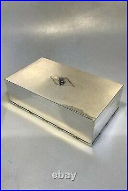 Georg Jensen Sterling Silver Cigar Box/Humidor No 329A