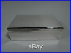 Gorham Box B6485/01 Antique Cigar Humidor American Sterling Silver
