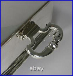 Grand English Sterling Silver Cigar Box / Humidor by Richard Comyns 1928