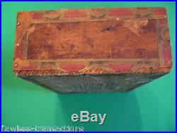 Grandavana Vintage Antik Leere Handgefertigt Holz Humidor Trimmed Zigarre Box