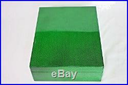 Green Carbon Fiber Humidor Showroom Model Measures 18 L x 16 W x 5 H
