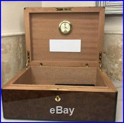 Groucho Marx Humidor Artisanal Marquetry Wood Cigar Box