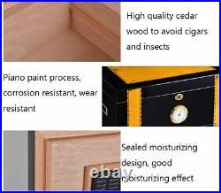 HIZLJJ High Gloss Cigar Humidor Cigar Box