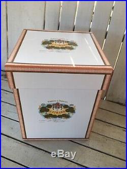 H Upmann Vintage Cigar Glass Tobacco Humidor Fabrica De Tabacos Glass Jar w Box
