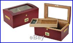 Hand Made 100+ CT Count Cigar Humidor Humidifier Wooden Case Box Hygrometer Twoa