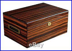 Hand Made 100 Count Cigar Humidor Box Wood Mahogany Humidifer Hygrometer 8