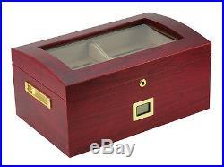 Hand Made 100 Count Cigar Humidor Box Wood Spanish Cedar Humidifer Hygrometer 2A