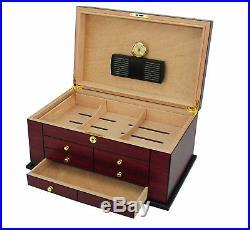 Hand Made 100 Count Cigar Humidor Box Wood Spanish Cedar Humidifer Hygrometer 9