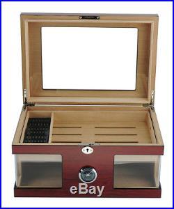 Hand Made 120 Count Cigar Humidor Box Wood Spanish Cedar Humidifier Hygrometer 4