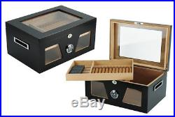 Hand Made 120 Count Cigar Humidor Box Wood Spanish Cedar Humidifier Hygrometer 5