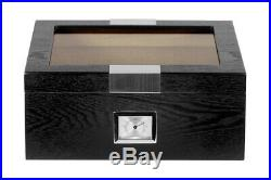 Hand Made 30+ Count Cigar Humidor Box Cabinet Veneer Humidifier Hygrometer 25
