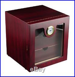 Hand Made 75 Count Cigar Humidor Box Cabinet Mahogany Humidifier Hygrometer Z