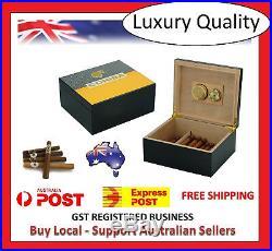 Hand Made Cohiba 25+ Count Cigar Humidor Box Cabinet Humidifier Hygrometer 21