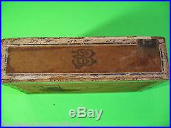 Havana Nastro Vintage Antico Vuote a Mano in Legno Humidor Decorato Cigar Box
