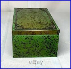 Heintz Metalware, Frog Skin Patina, Humidor Box, Cigars, Tobacco, Cigarettes