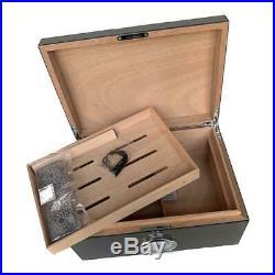 High Quality Premium Cedar Wood Cigars Humidor Cabinet Large Capacity Cigar Box