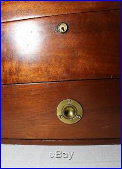 High quality antique handmade wood brass glass cigar humidor holder box mahogany