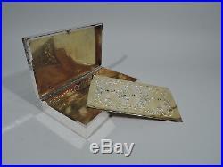 Howard Humidor 1813A Antique Edwardian Cigar Box American Sterling Silver
