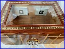 Humidor Burlwood Cigar Box 14x10x6 Tabacalero Perdomo Luxury High Lacquer 7lb