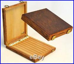 Humidor Humidificador Cajita para Puros Mastro de Paja Cigar Box