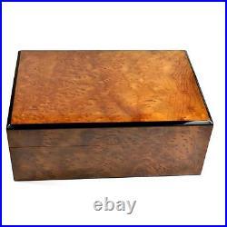 Humidor Scatola Cassetta Porta Sigari Radica Vavona Redwood Burl Cigars Case Box