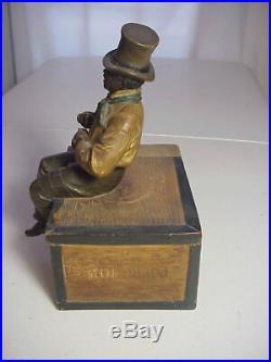 JOHANN MARESCH JM 3323 Austria BLACK AMERICANA CIGAR BOX HUMIDOR Habana Colorado