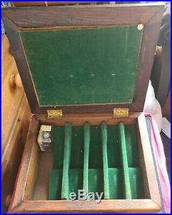 John Jamison Whiskey Cigar OAK Glass Music Box Humidor