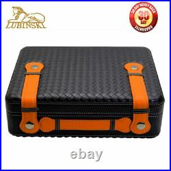 LUBINSKI Cigar Humidor Humidifier Box Cedar Handbag Cigar Moisturizing Case