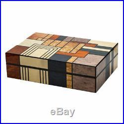 LUBINSKI Luxury Cedar Wood Cigar Humidor Case Box with Humidifier Hygrometer