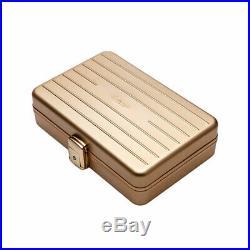 LUBINSKI Portable Travel Cedar Wood Cigar Humidor Case Storage Box for 10 Cigars