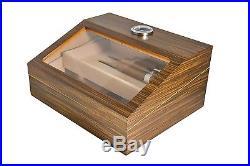 La Madera Cubana Humidor with Glass Top Wooden Cigar Humidor High quality