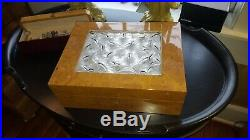 Lalique Crystal Vintage Madrona Cigar Humidor Box