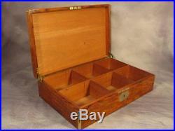 Large Antique Edwardian Vintage Tiger Oak Cigar Campaign Humidor Smokers Cabinet
