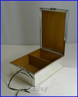 Large Antique English Hunting Scene Cigar Box / Humidor Paris Retailer c. 1900
