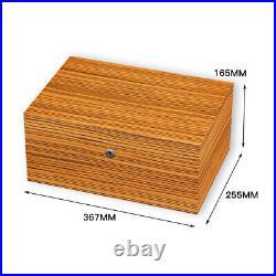 Large Cedar Wood Cigar Humidor Box With Hygrometer Hygrometer 100-150ct Holder
