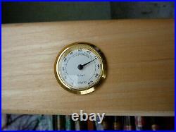 Large Glass-Top Cigar Humidor Humidifier Box with Hygrometer and Cedar Wood NICE