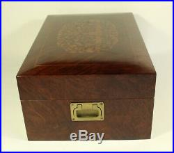 Large Sorrento Cuomo Lucky Store Hand Made Inlaid Wood Jewelry Dresser Box Italy