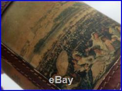 Leather Humidor Cigar Box Francisco de Goya Art 19th Century