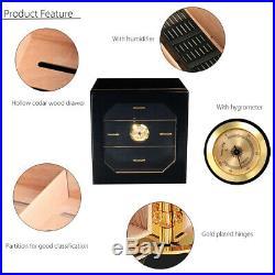 Luxury Cedar Cigar Cabinet Humidor Box 3 Drawers Wooden Case For COHIBA Cigar