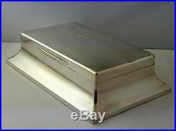 Magnificent Edwardian Large Solid Silver Cigar Box Humidor London 1904