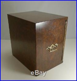 Magnificent Large Antique English Walnut Cigar Cabinet / Box / Humidor c. 1890
