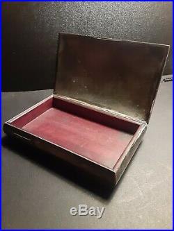 Mexico Taxco Rare Antique Amethyst Humidor Cigar Presentation circa Box 1940's